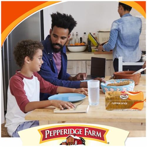 Pepperidge Farm Pumpkin Spice Swirl Bread Perspective: left