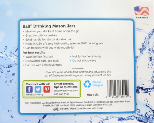 Ball® Drinking Mason Jars - 4 Pack Perspective: left