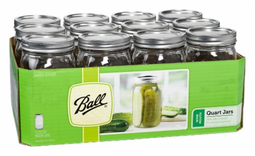Ball® Wide Mouth Quart Jars - Clear Perspective: left