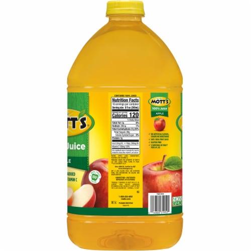 Mott's 100% Original Apple Juice No Sugar Added Perspective: left