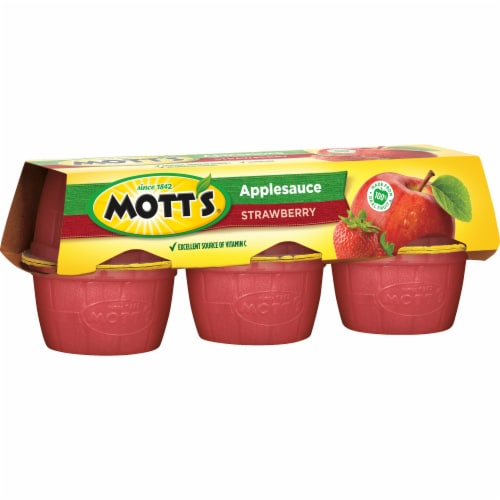 Mott's Strawberry Applesauce Cups Perspective: left