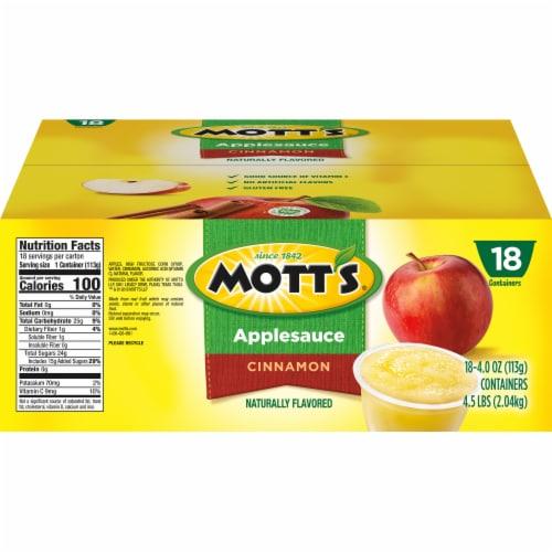 Mott's Cinnamon Applesauce Cups Perspective: left