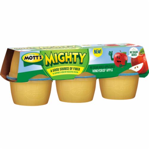 Mott's Mighty Honeycrisp Apple Applesauce Perspective: left