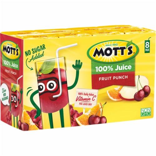 Mott's® Fruit Punch 100% Juice Boxes Perspective: left