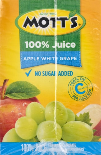 Motts White Grape Apple Juice Perspective: left