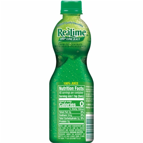 ReaLime 100% Lime Juice Perspective: left