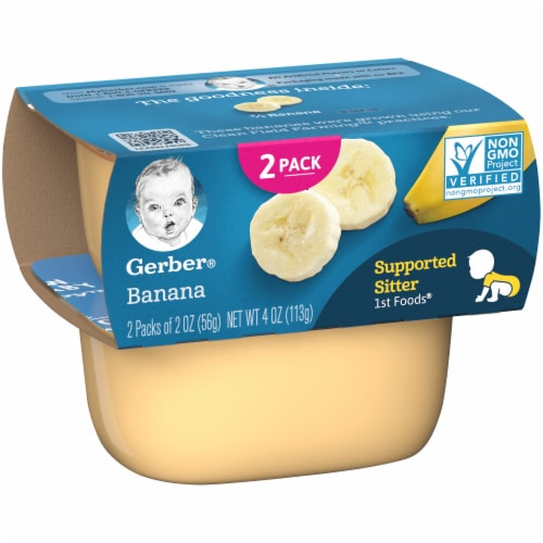 Gerber Banana Stage 1 Baby Food Perspective: left