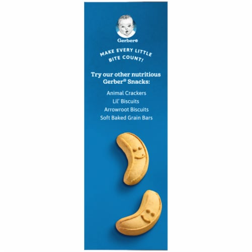 Gerber Graduates Banana Cookies Toddler Snack Perspective: left
