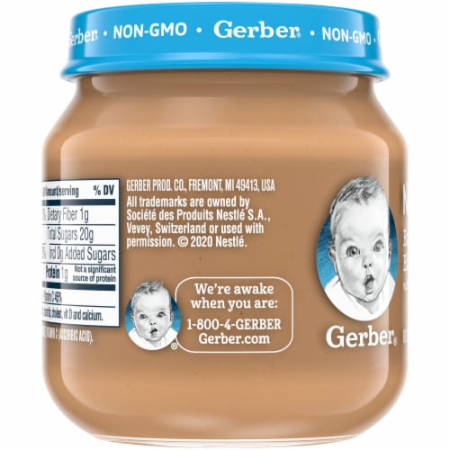 Gerber 2nd Foods Banana Blueberry Stage 2 Baby Food Perspective: left