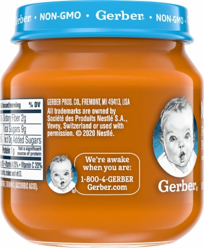 Gerber 2nd Foods Natural Pear Carrot Pea Baby Food Perspective: left