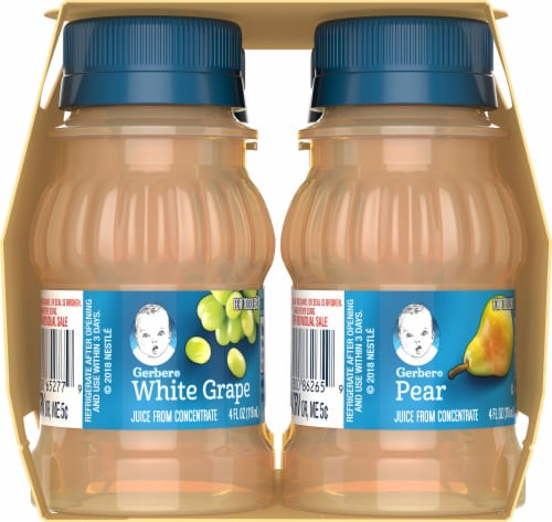 Gerber Apple Pear and White Grape Toddler Fruit Juice Variety Pack Perspective: left