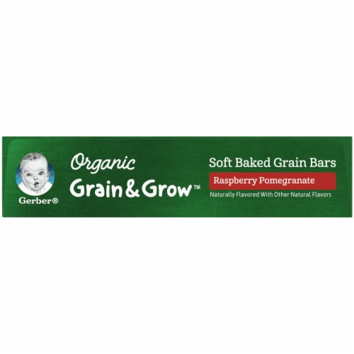 Gerber Organic Grain & Grow Raspberry Pomegranate Soft Baked Grain Bars Perspective: left