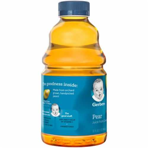 Gerber Toddler Pear Juice from Concentrate Perspective: left