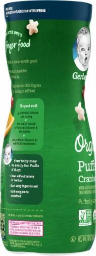 Gerber Organic Puffs Cranberry Orange Grain Snack Perspective: left