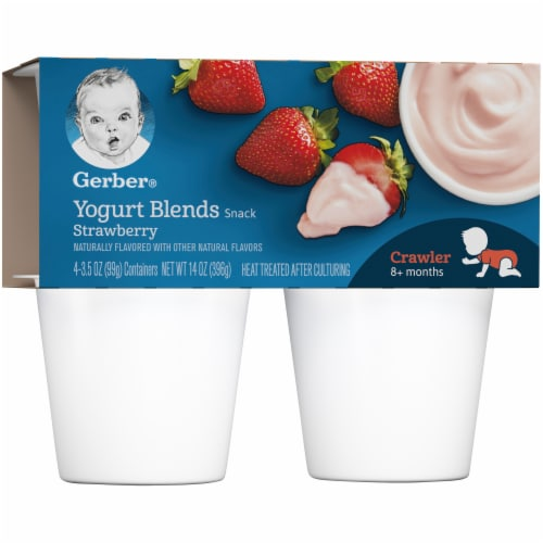 Gerber Strawberry Crawler Yogurt Blends Perspective: left