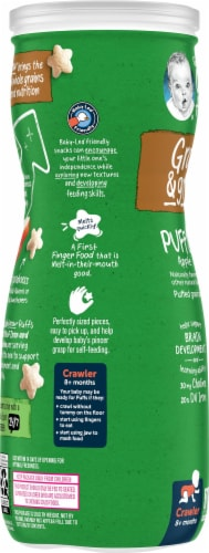 Gerber Organic Puffs Apple Puffed Grain Snack Perspective: left