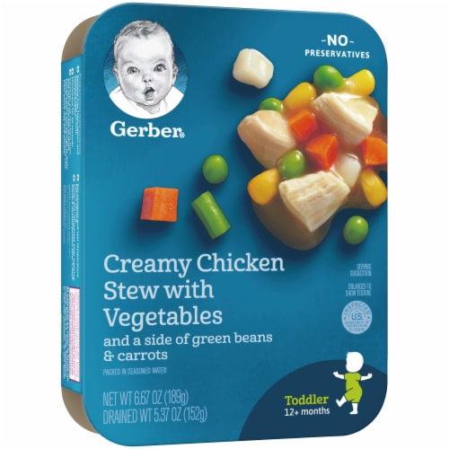 Gerber Creamy Chicken Stew with Vegetables Toddler Meal Perspective: left
