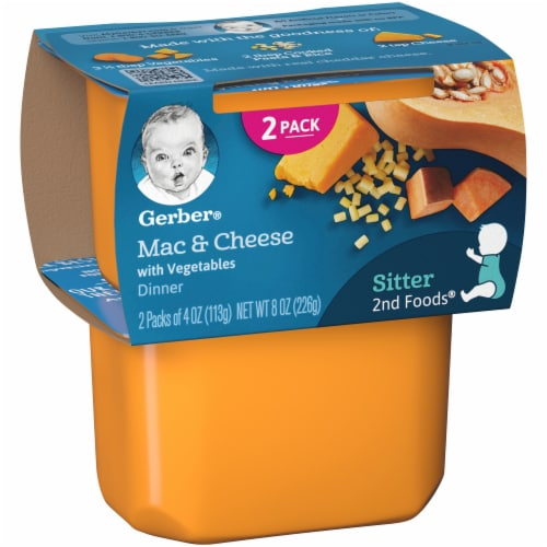 Gerber 2nd Foods Mac & Cheese with Vegetables Dinner Baby Food Perspective: left