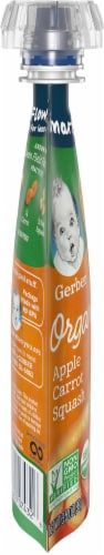 Gerber Organic Apple Carrot Squash Sitter Pouch Perspective: left