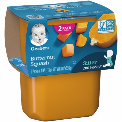 Gerber 2nd Foods Butternut Squash Stage 2 Baby Food Perspective: left