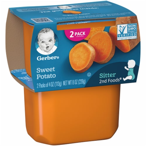 Gerber 2nd Foods Sweet Potato Stage 2 Baby Food Perspective: left