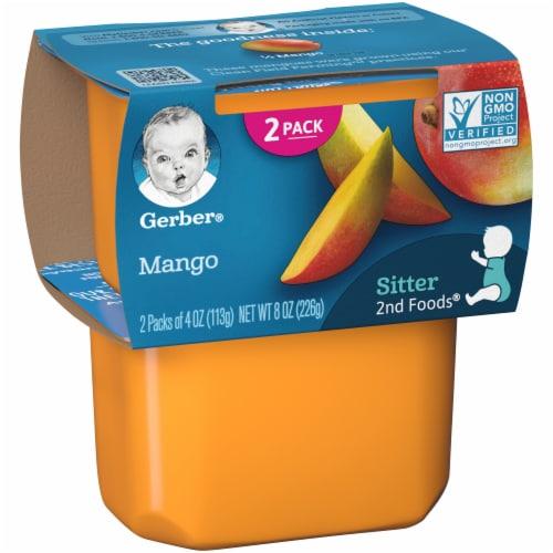 Gerber 2nd Foods Mango Baby Food Perspective: left