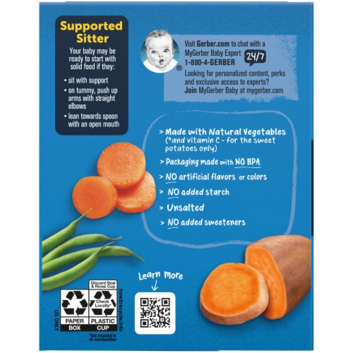 Gerber My 1st Veggies Starter Kit Baby Food Puree Assorted Perspective: left