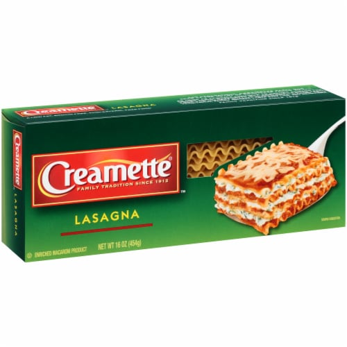 Creamette Lasagna Pasta Perspective: left