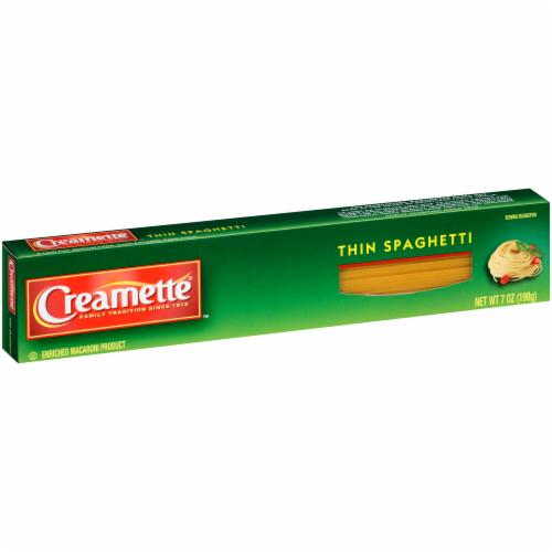 Creamette Thin Spaghetti Perspective: left