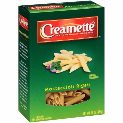 Creamette Mostaccioli Rigati Pasta Perspective: left