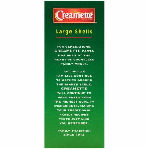 Creamette Large Shells Pasta Perspective: left