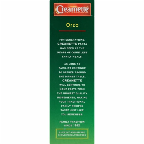 Creamette Orzo Pasta Perspective: left