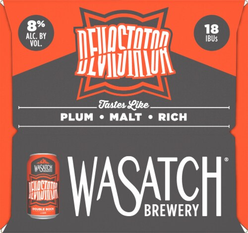 WaSatch Brewery Devastator Double Bock Lager Perspective: left