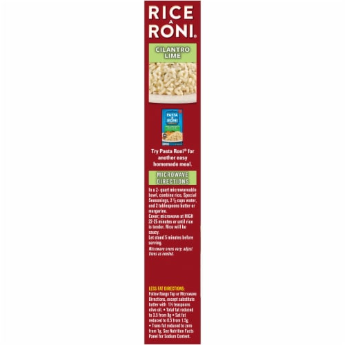 Rice-A-Roni Cilantro Lime Rice Perspective: left