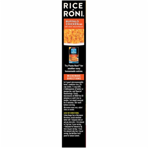 Rice-A-Roni Buffalo Chicken Flavor Rice Perspective: left