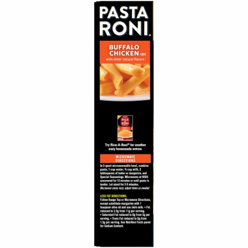 Pasta Roni Hot & Spicy Buffalo Chicken Flavor Side Dish Perspective: left