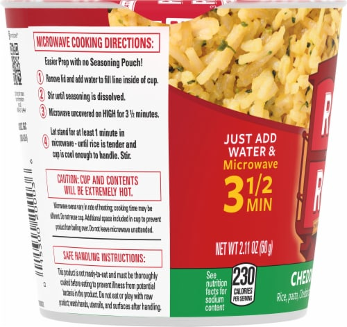 Rice-A-Roni Cheddar Broccoli Flavor Rice Cup Perspective: left