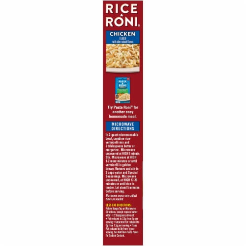 Rice-A-Roni Chicken Flavored Rice Perspective: left