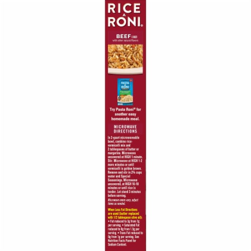 Rice-A-Roni Beef Flavor Rice Mix Perspective: left