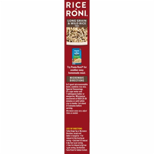 Rice-A-Roni Long Grain & Wild Rice Mix Perspective: left