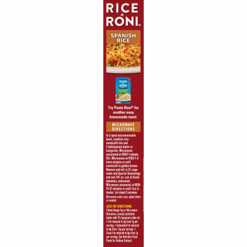 Rice-A-Roni Spanish Rice Perspective: left