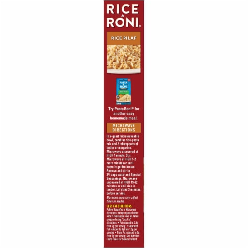 Rice-A-Roni Rice Pilaf Perspective: left