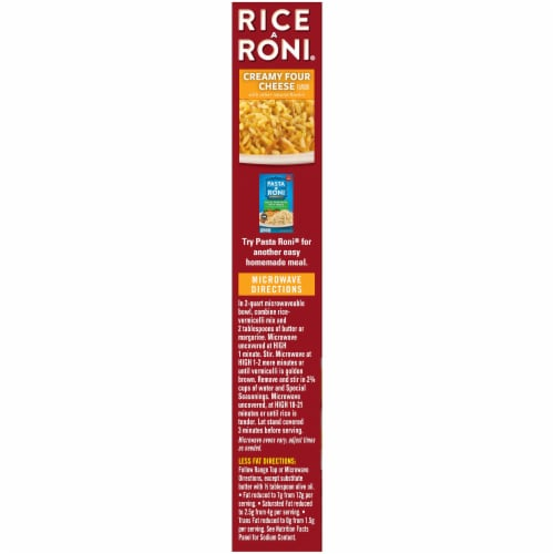 Rice A Roni Creamy Four Cheese Rice Mix Perspective: left