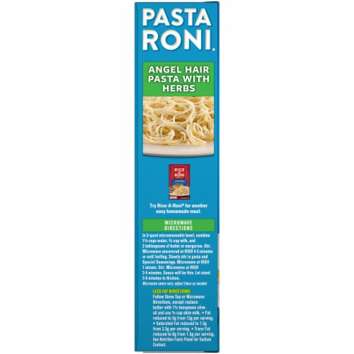 Pasta Roni Angel Hair Pasta with Herbs Pasta Mix Perspective: left