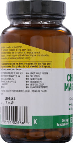 Country Life Chelated Magnesium 250 mg Tablets Perspective: left