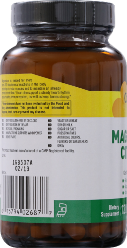 Country Life Magnesium Citrate 250 mg Tablets Perspective: left