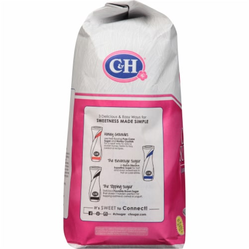 C&H Pure Granulated White Cane Sugar Perspective: left