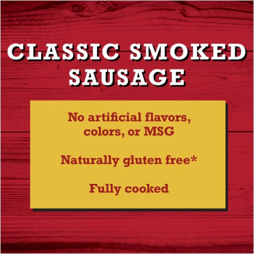 Bar-S Classic Smoked Sausage 14 Count Perspective: left