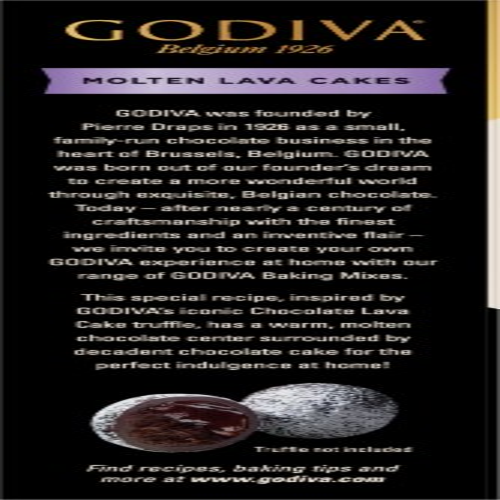 Godiva Molten Lava Cakes Baking Mix Perspective: left