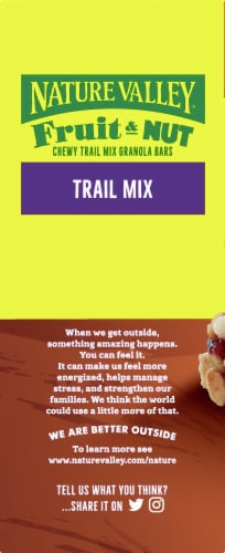 Nature Valley Trail Mix Fruit & Nut Chewy Granola Bars Perspective: left